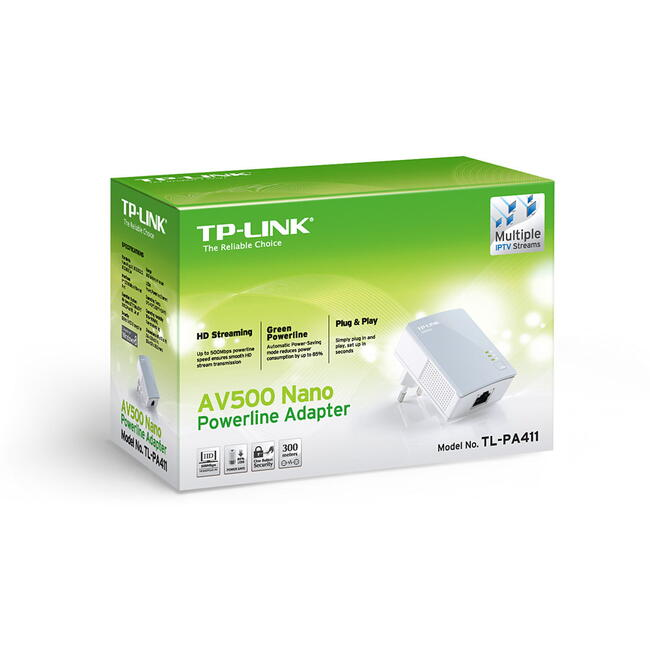 TP-Link TL-PA411 AV500 Mini Powerline Adapter