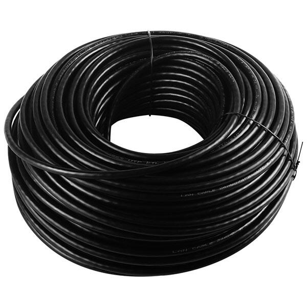 Cat6 Installation Cable Outdoor 100M Black