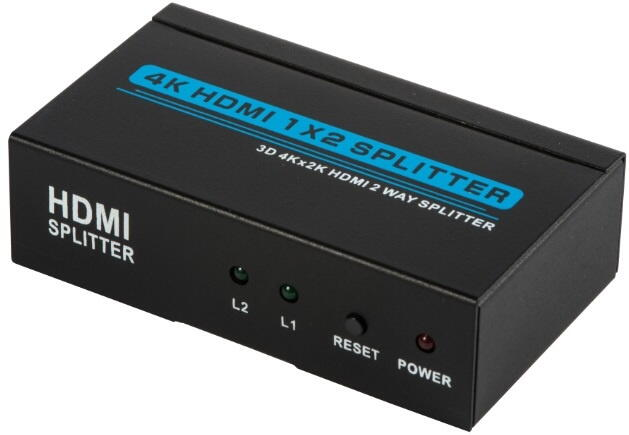 HDMI Splitter 4K 1 til 2 3D Highspeed