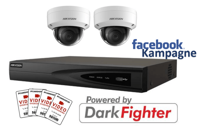 Hikvision 4MP Kit PoE 2145 K 2.4.4  WHITE - FACEBOOK