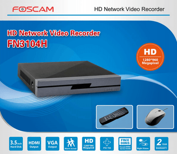 Foscam FN3104H 4channel NVR Incl. 1TB HDD