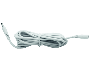 Hikvision 12V Power Extension Cable 5m WHITE