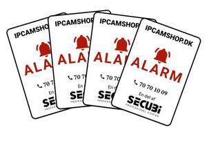 Alarm sticker 4 pcs.